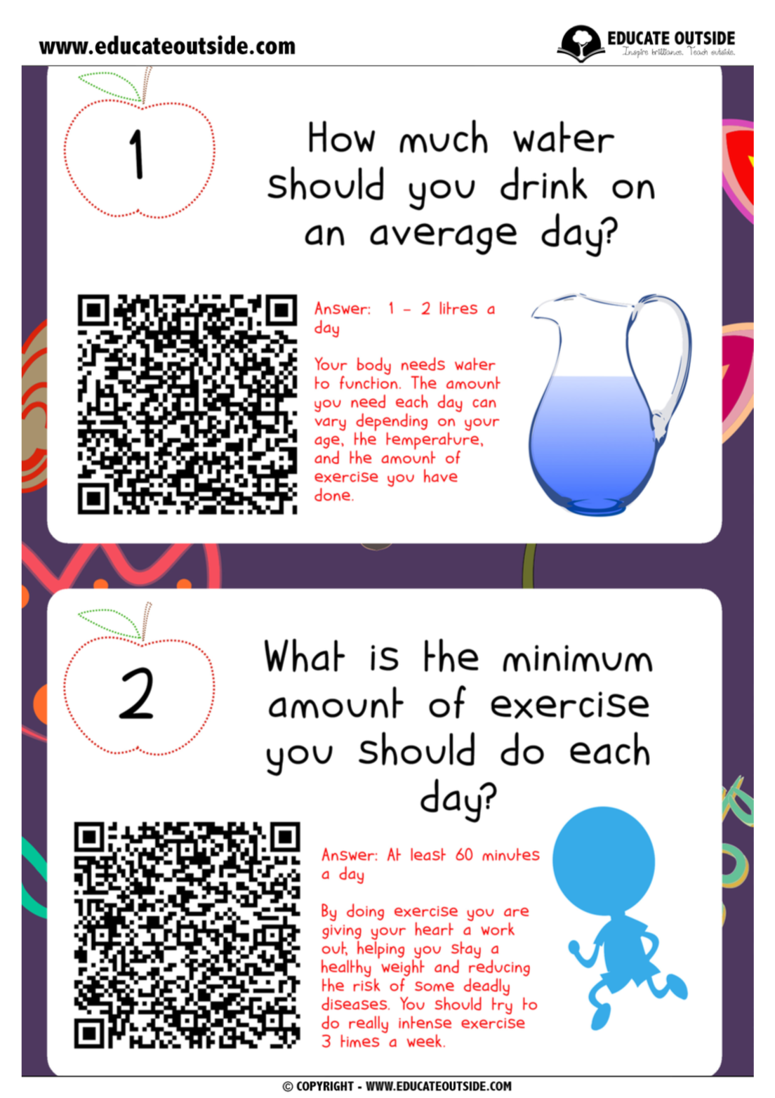 Keeping Healthy: QR Code Quiz - Educate Outside