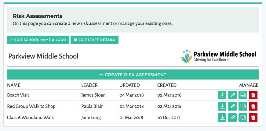 Risk Assessment Creator