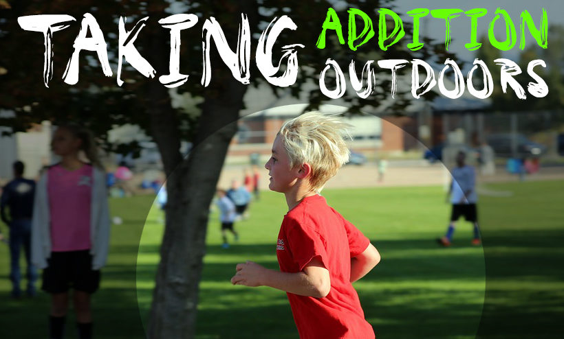 Teaching Addition Outdoors – Addition Olympics