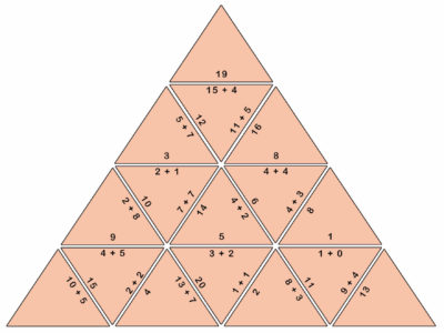 Mental Addition Tarsia Puzzle