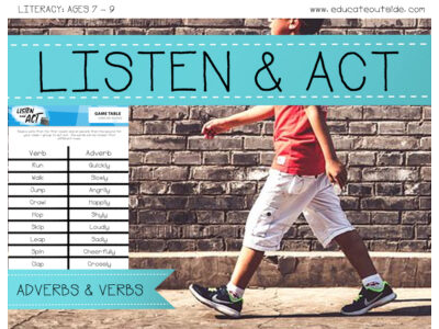 Listen and Act - Adverbs Game