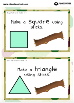 Simple Shapes Task Cards