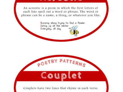 Poetry: Help Cards