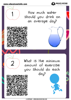 Keeping Healthy: QR Code Quiz