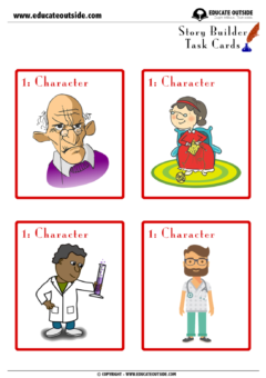 Story Writing: Story Builder Cards