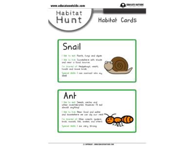 Habitats: Habitat Hunt