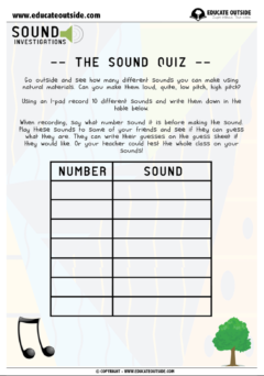 Sound Investigations: The Sound Quiz