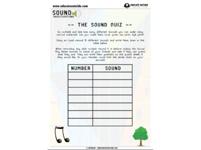 Sound Investigations: The Sound Quiz