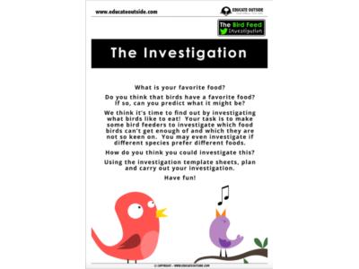 Animal Investigation: The Bird Feed Investigation