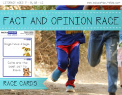 Fact and Opinion Race Cards