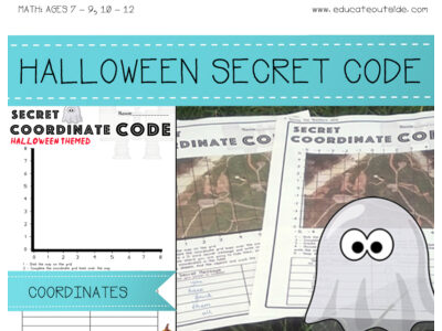 Secret Code Coordinates - Halloween Themed