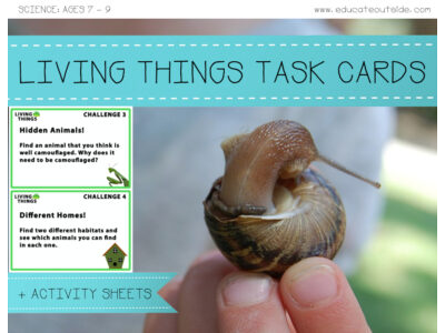 Living Things Outdoor Task Cards