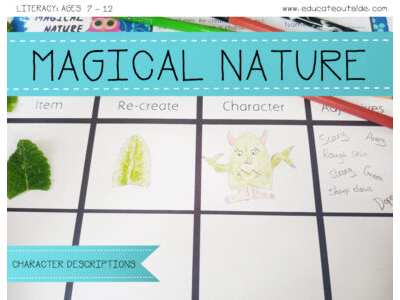 Magical Nature Characters: Ages 7 - 12