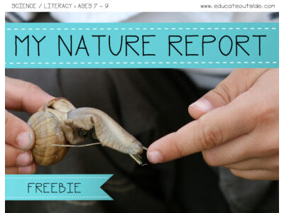 My Nature Report: Ages 7 - 9