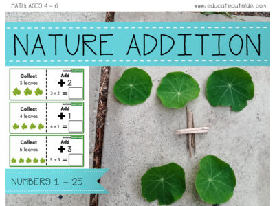 Nature Addition: Numbers 1 - 25