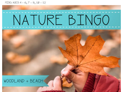Nature Bingo - Beach and Woodland