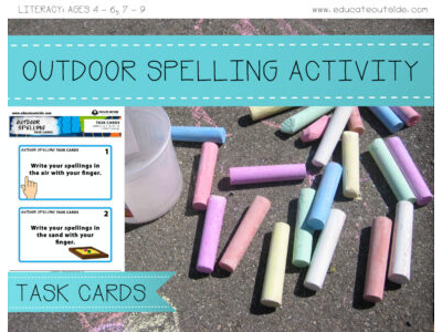 Outdoor Spelling Task Cards