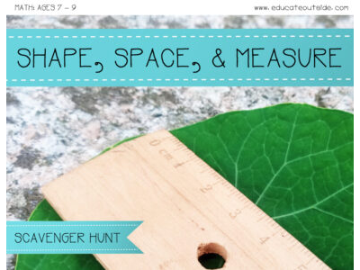 Shape, Space, and Measure Scavenger Hunt